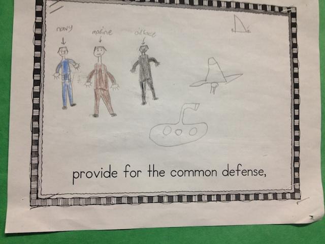 Gray School Students Illustrate the Preamble | 640 x 480 jpeg 87kB