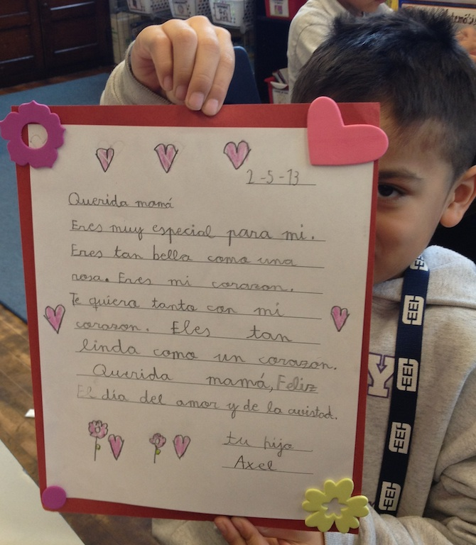 valentines day letters by gray school students